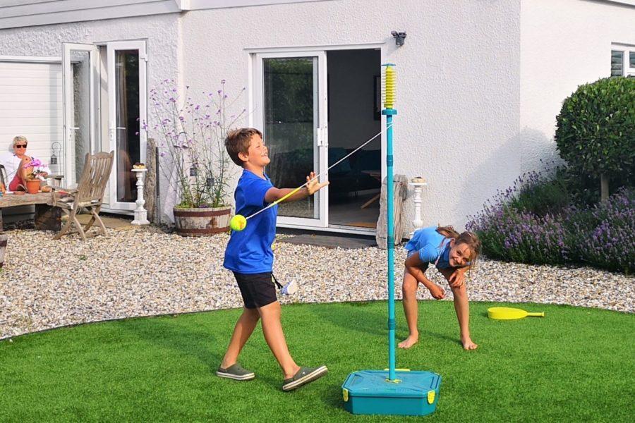 swingball in the garden